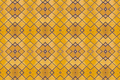 Yellow mosaic tiles floor Royalty Free Stock Photo