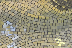 Yellow mosaic tiles. Useful as a background stock photography