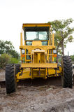 Yellow Motor Graders Royalty Free Stock Photos