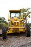 Yellow Motor Graders royalty free stock photos