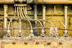 Yellow motor Royalty Free Stock Image