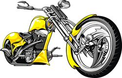 Yellow motorbike Royalty Free Stock Images