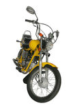 Yellow motorbike royalty free stock image