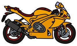 Yellow motorbike Royalty Free Stock Photos