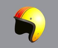 Yellow motorbike helmet Stock Photo