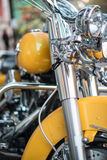 Yellow motorbike Royalty Free Stock Photo