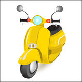 Yellow motorbike Stock Images