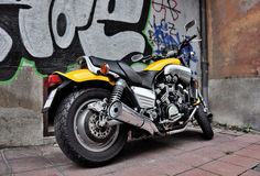 Yellow motorcycle Stock Image