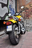 Yellow motorcycle Stock Photo