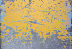 Yellow mottled paint gate Royalty Free Stock Images