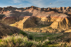 Yellow Mounds - Badlands National Park Royalty Free Stock Photo
