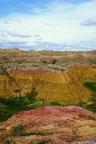 Yellow Mounds, Badlands National Park, SD Stock Photos