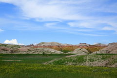 Yellow Mounds, Badlands National Park, South Dakota Royalty Free Stock Photo