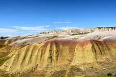 The Yellow Mounds in Baldands NP. The Yellow Mounds area of Badlands National Park. The mounds are an example of a fossil soil, or paleosol Royalty Free Stock Images