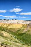 The Yellow Mounds in Baldands NP. The Yellow Mounds area of Badlands National Park. The mounds are an example of a fossil soil, or paleosol Stock Images