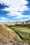 The Yellow Mounds in Baldands NP. The Yellow Mounds area of Badlands National Park. The mounds are an example of a fossil soil, or paleosol Royalty Free Stock Photos