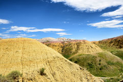 The Yellow Mounds in Baldands NP. The Yellow Mounds area of Badlands National Park. The mounds are an example of a fossil soil, or paleosol Stock Image