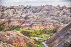 Yellow Mounds Landscape In The Badlands Stock Photos