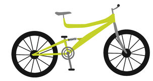 Yellow mountain bike Stock Images