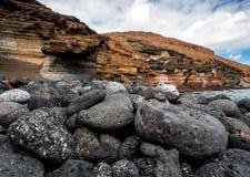 Yellow Mountain (Montana Amarilla) in Costa del Silencio Stock Photos