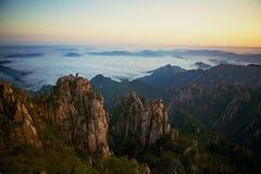 Yellow Mountains, China, Yellow Stock Photos