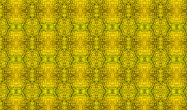 Yellow Mozaic Created from Leaves Stock Photo