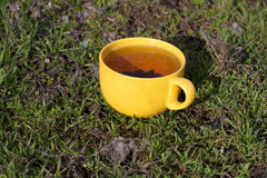 Yellow mug Stock Photo