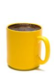Yellow mug from coffee Royalty Free Stock Images