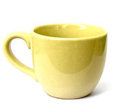 Yellow mug empty blank for coffee or tea Stock Photo