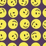 Yellow mugs smilies seamless texture Royalty Free Stock Image