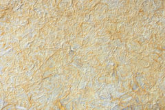 Yellow Mulberry paper hand made Royalty Free Stock Image