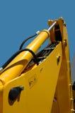 Yellow multi purpose wheel-loader. Closeup of a working yellow multi purpose wheel-loader Stock Photography