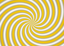 Yellow multispiral. A yellow multispiral object royalty free illustration