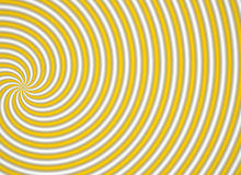 Yellow multispiral. A yellow multispiral object stock illustration