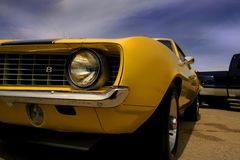 Yellow Mustang Stock Image