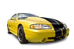 Yellow Mustang Cobra Stock Photography