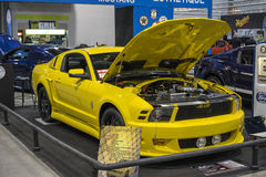 Yellow mustang Royalty Free Stock Image