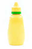 Yellow mustard bottle Stock Photos