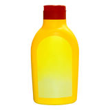 Yellow Mustard Bottle Isolated Stock Photo