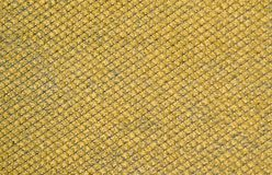 Yellow mustard colored fabric swatch samples texture unprinted suiting fabric from above .Cloth texture. Yellow mustard colored fabric swatch samples texture stock images