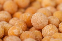 Yellow mustard seeds for backgrounds or textures, healthy food.  stock image