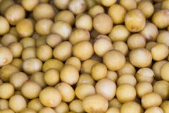 Yellow mustard seeds macro Stock Photography