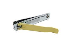 Yellow nail clippers Stock Photos