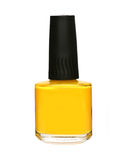 Yellow nail polish bottle Royalty Free Stock Photo