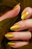 Yellow nails Royalty Free Stock Image