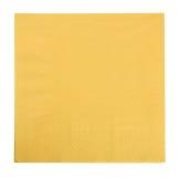 Yellow napkin isolated Stock Image