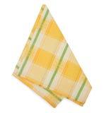 Yellow napkin Royalty Free Stock Images