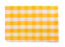 Yellow napkin on white Stock Images