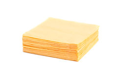 Yellow napkins. Royalty Free Stock Photos