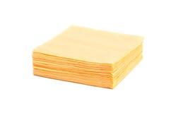 Yellow napkins. Yellow napkins isolated on a white background Royalty Free Stock Photos